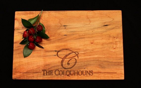 Personalized Cutting Board - Maple Cutting Board - Serving Tray - Custom Cutting Board - Wedding Anniversary Gourmet Art Rustic Charcuterie
