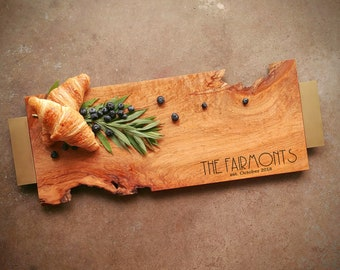 Personalized Serving Tray Maple - One of a Kind Board - Personalized Cutting Board w/Feet, Choice of Handle, includes Wood Butter