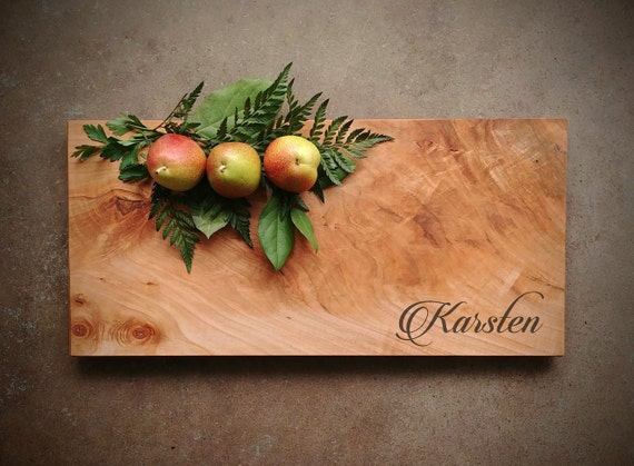 Personalized Cheese Board in Maple - One of Kind Board for Wedding, Anniversary or Christmas