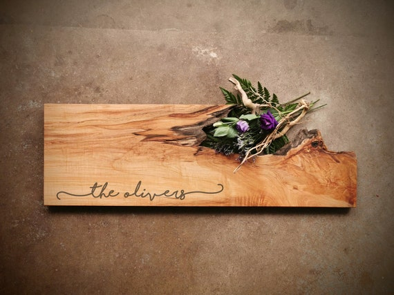 *One of A Kind* Rustic Maple Cheese Board