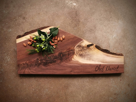 Live Edge Personalized Cheese Board