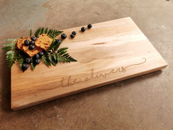 10x18 Inch Charcuterie Board - Personalized Cutting or Cheese Board
