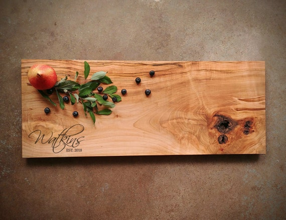 Rustic Maple Cutting Board w/Feet & Wood Butter