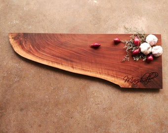 Personalized Charcuterie Board - One of a Kind Personalized Cutting Board - Walnut Cutting Board - Walnut Personalized Cheese Board