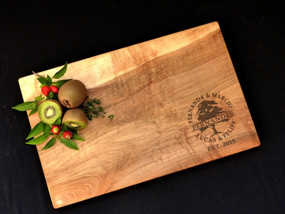 Personalized Maple Cutting Board - Engraved Family Tree Cutting Board