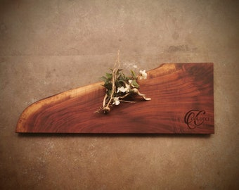 Personalized Cutting Board - One of a Kind Live Edge Walnut Cheese Board - #Z8C0921