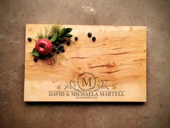 24X15 Inch Large Personalized Cutting Board - Maple Charcuterie Board