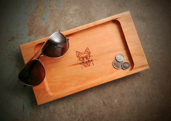 Personalized Valet Tray with Fox Design