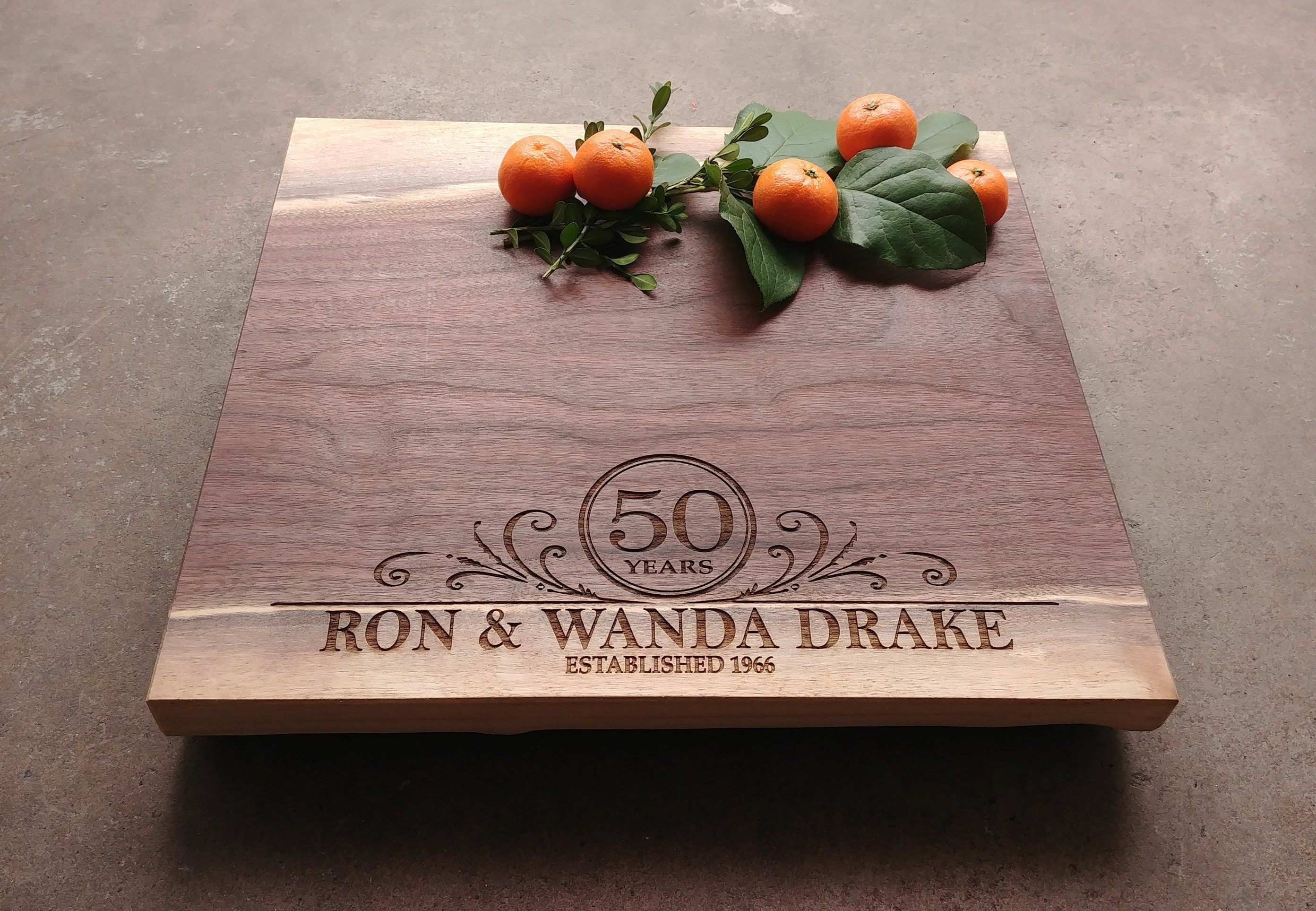 50th Wedding Anniversay Gifts: 50th Wedding Anniversary Gift Personalized Cutting Board