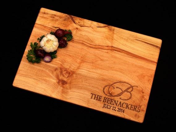 Personalized Cutting Board - Maple Cutting Board - Personalized Wood Cutting Board