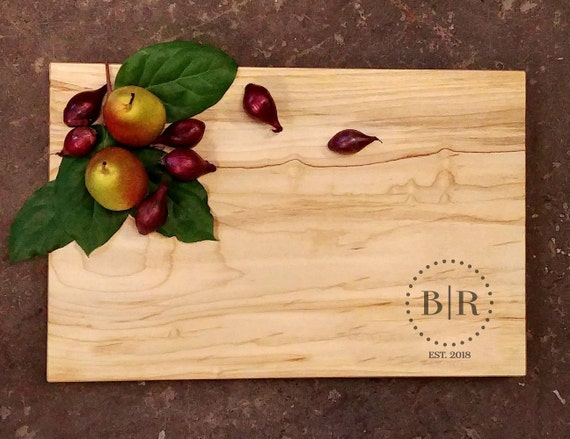 Personalized Cutting Board - Monogram Board - Cheese Board - Wedding Cutting Board - Engraved Cutting Board - Personalized Wedding Gift