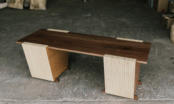 Contemporary Walnut Bench or Coffee Table by OSOhome