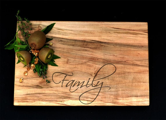 Personalized Cutting Board Maple - Family Cutting Board - Realtor Closing Gift - Wedding Cutting Board - Custom Cutting Board