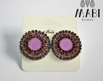 Earrings/earrings/earrings/handmade/embroidery/she/gift/craft/elegant/Swarovski /handmade/