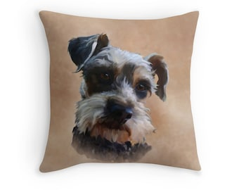 "Mini Schnauzer Dog Cushion Cover 18/"" Home Furnishing Large Scatter Miniature"