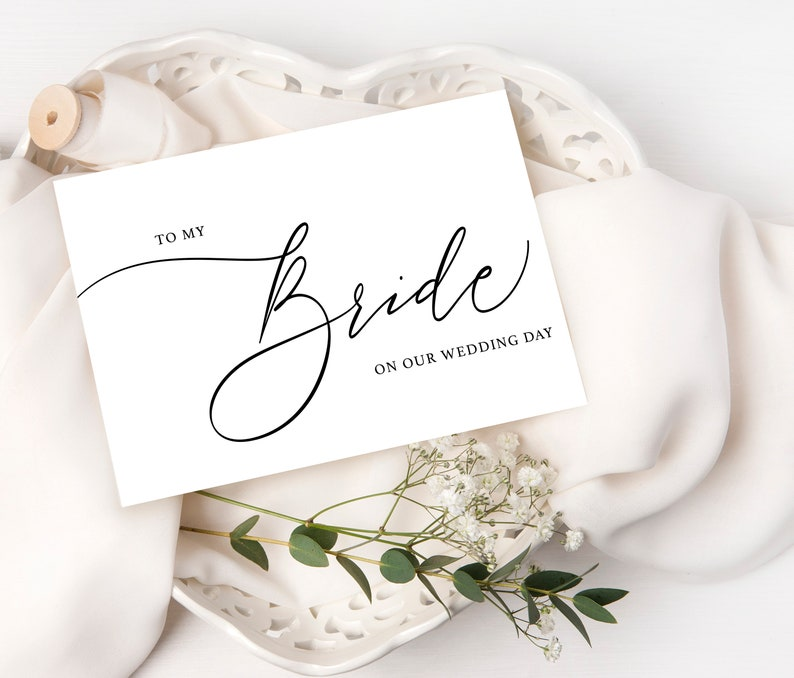 To my Groom Before I Do Cards Wedding Note Cards Calligraphy Script, To My Bride Wedding Day Card Husband and Wife Script Card
