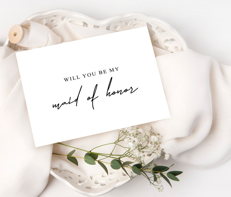 Will You Be My Bridesmaid Will You Be My Matron of Honor Proposal Card Matron of Honor Proposal Wedding Day Card Proposal Card