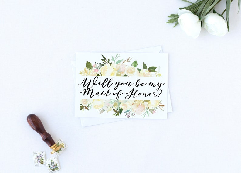 Card for Bridesmaid Wedding Party Card Proposal Card Will you Be my Maid of Honor Card Wedding Card Maid of Honor,