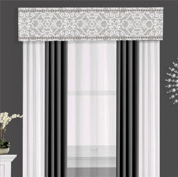 Custom Nailhead Cornice Board Pelmet Box Valance Window