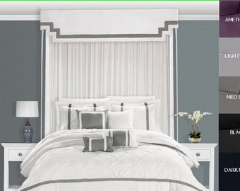 Bed Headboard Bed Cornice Bed Canopy Bed Crown Bed Teester Bed Drapery Bed  Curtains Bedding Drapery
