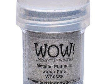 Wow! Embossing Powder Super Fine Metallic Platinum 15ml