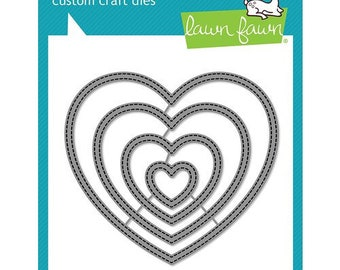 Lawn Fawn - Lawn Cuts - Dies - Just Stitching Hearts