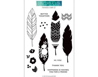 Concord and 9th - Clear Photopolymer Stamps - Feathered