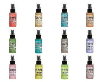In Stock-Tim Holtz Distress Oxide Sprays-set of 12- set 2