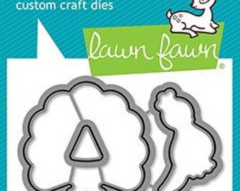 Preorder-Lawn Fawn-peacock before 'n afters - lawn cuts