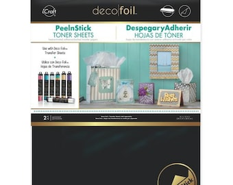 Therm O Web - iCraft - Deco Foil - 8 x 10.5 Peel N Stick Toner Sheets - 2 Pack
