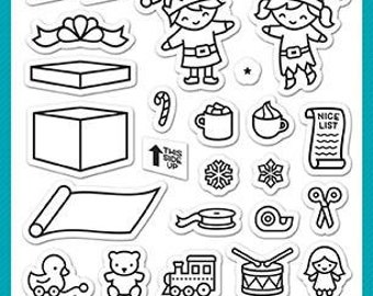 Lawn Fawn - Christmas - Clear Photopolymer Stamps - Holiday Helpers
