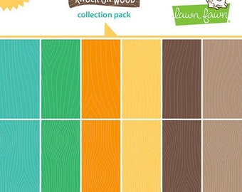 Lawn Fawn - Knock on Wood Collection - 12 x 12 Collection Pack