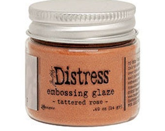 Tim Holtz Distress Embossing Glaze-Tattered Rose