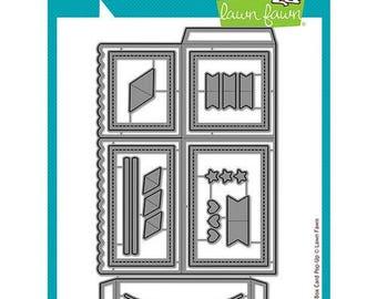 Lawn Fawn - Lawn Cuts - Dies - Scalloped Box Card Pop-Up