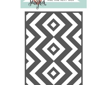 Neat and Tangled- SQUARE And CHEVRONS Cover Plate DIE