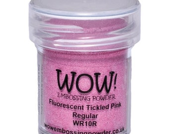 Wow-Embossing Powder- FLUORESCENT TICKLED PINK Regular