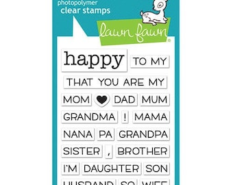 Lawn Fawn - Clear Acrylic Stamps - Happy Happy Happy Add-On - Family
