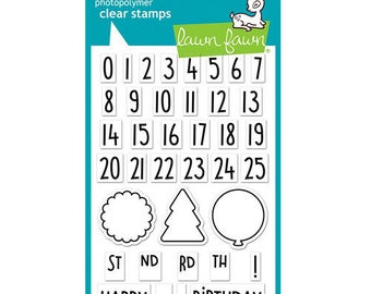 Lawn Fawn - Clear Acrylic Stamps - Celebration Countdown