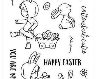 Neat and Tangled- COTTONTAIL CUTIES- Clear Stamp Set