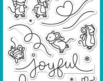 Lawn Fawn-Mice On Ice-Clear Stamp Set-Preorder