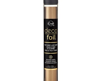 Therm O Web - iCraft - Deco Foil - 6 x 12 Transfer Sheet - Bronze - 5 Pack