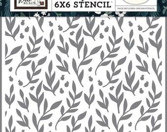 Carta Bella Paper - Home Again Collection - 6 x 6 Stencil - Gather Branches