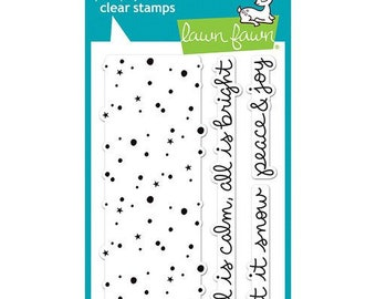 Lawn Fawn - Clear Photopolymer Stamps - Snowy Backdrops