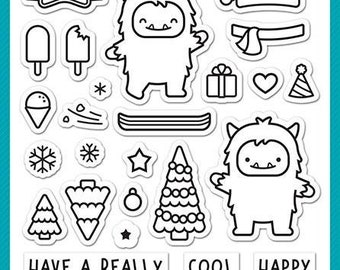 Lawn Fawn-Yeti Or Not-Clear Stamp Set-Preorder
