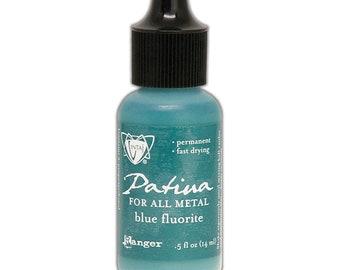 Ranger Ink - Vintaj - Patinas - Opaque Ink - Blue Fluorite