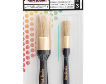 American Crafts -Vicki Boutin =STENCIL BRUSH SET -All The Good Things- Mixed Media