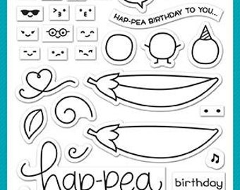 Lawn Fawn-Clear Acrylic Stamps-Be Hap-pea
