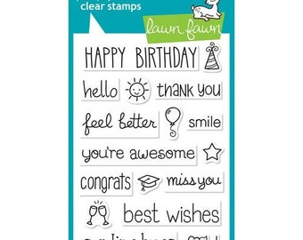 Lawn Fawn - Clear Photopolymer Stamps - So Much To Say