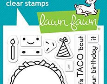 PREORDER-Lawn Fawn-Clear Acrylic Stamps-Year Nine