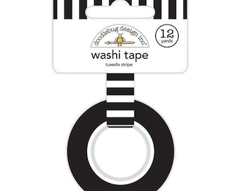 Doodlebug Design - Lots O' Luck Collection - Washi Tape - Tuxedo Stripe